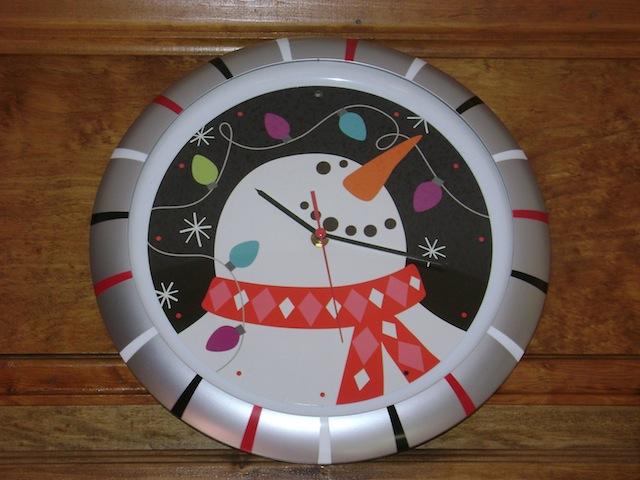 The kitchen clock