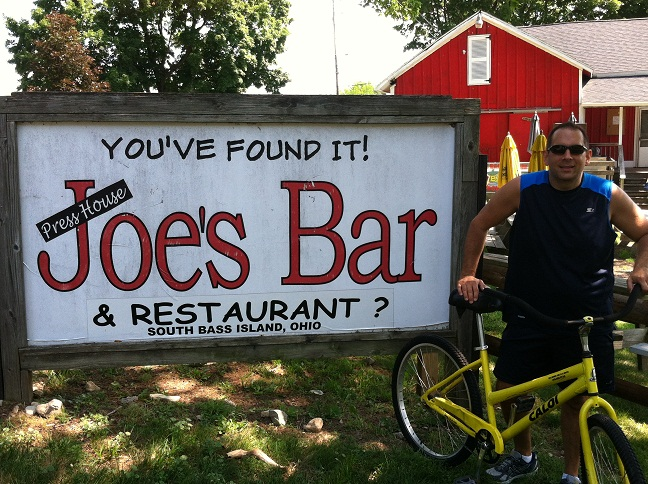 Sign saying, 'You've found it! Joe's Bar & Restaurant'