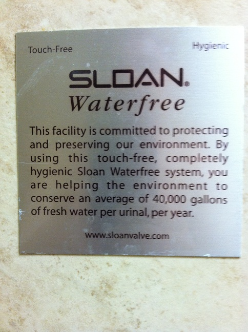By using this touch-free, completely hygienic system, you are helping the environment to conserve an average of 40,000 gallons of fresh water per urinal, per year.