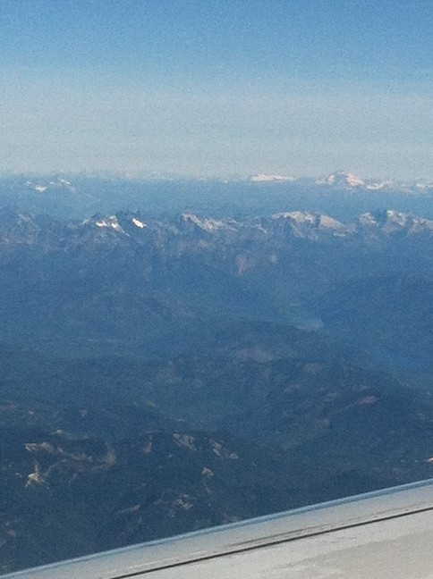 The snow-capped mountainous west