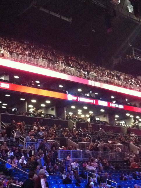 Seats off to my left and up into the rafters