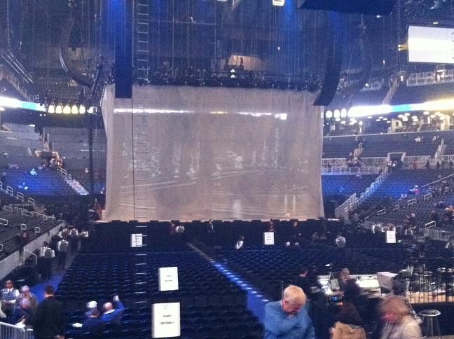 View of the stage from my seat