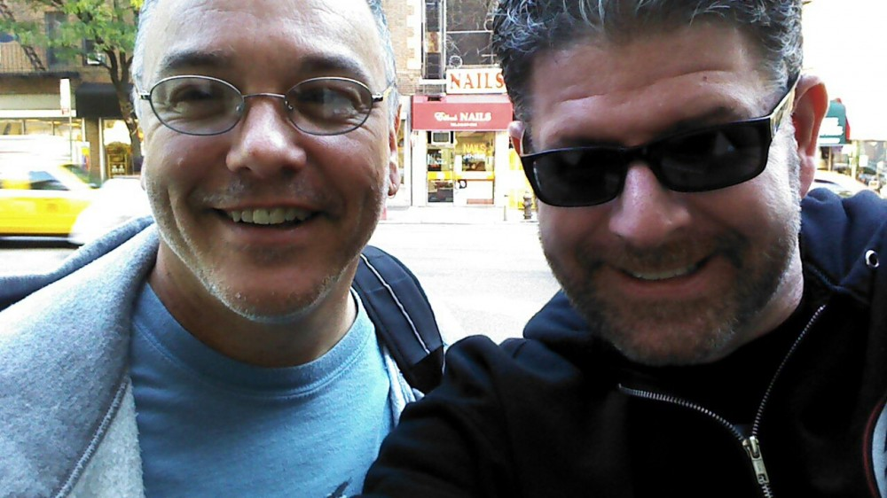 Me and Steven Klapow in front of Whym's in NYC