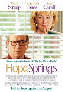 Hope Springs movie poster showing Meryl Streep and Tommy Lee Jones