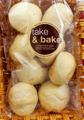 Take and bake rolls