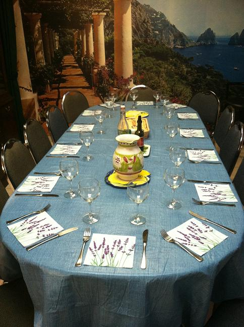 The table set for 14