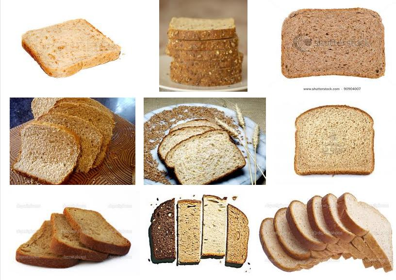 Collage of different kinds of wheat bread