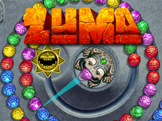 Screen capture of the game Zuma