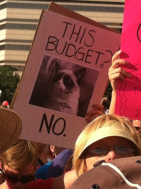 This budget? [inserted pic of 'Grumpy Cat'] No.