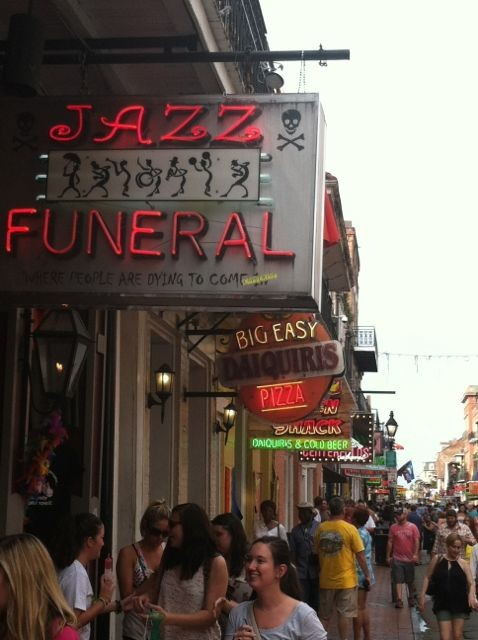Neon signs on Bourbon Street