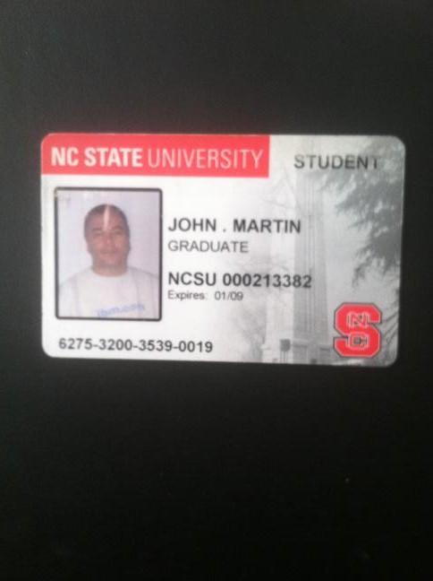 NC Statud ID card