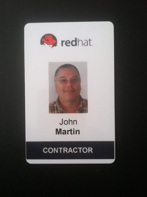 Red Hat contractor badge