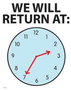 Will return at 2:35.