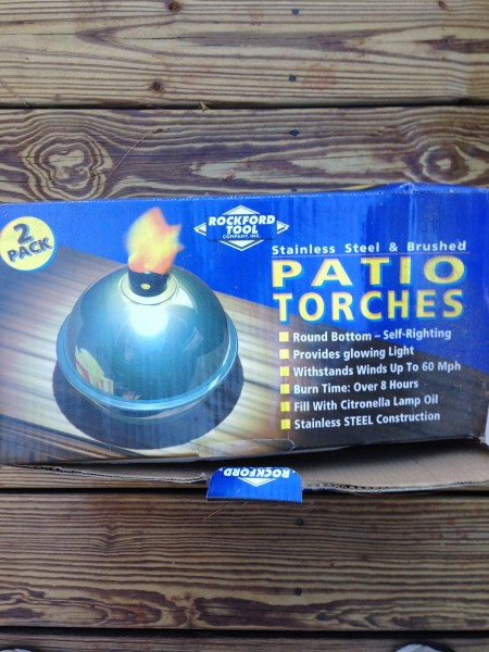 Patio torches box