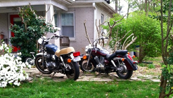Front yard motorcycles