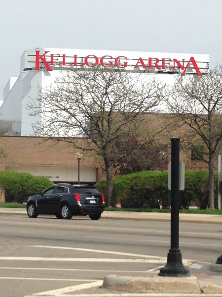 Kellog Arena in downtown Battle Creek