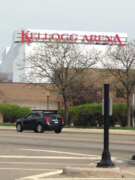 Kellog Arena in downtown Battle Creek
