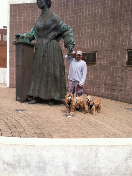 Bob, Frances, and Vincent with Sojourner Truth