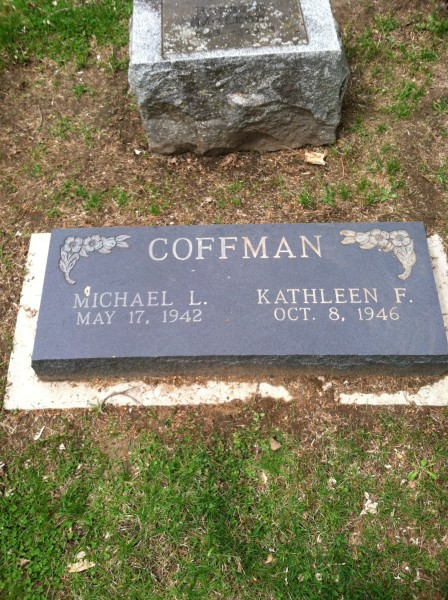 Future gravesite of Mike and Kathleen Coffman