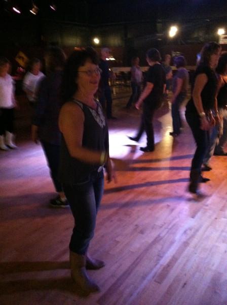 Mary on the dance floor