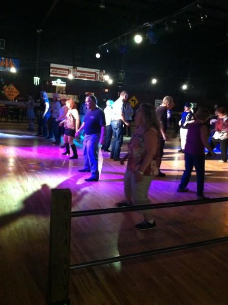 John on the dance floor