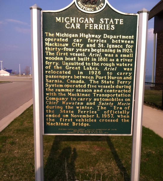 About the Michigan car ferries