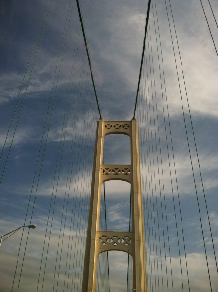 The Mackinaw Bridge tower