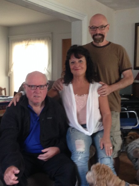 """Billy, Mary, and Bob McVeigh at Billy""""s house"""