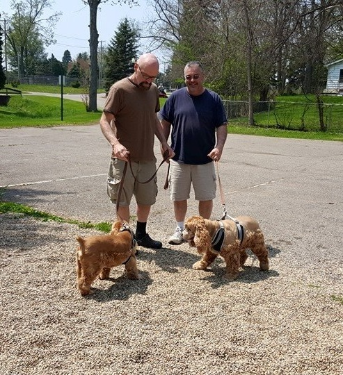 """Bob, John, Frances, and Vincent in the park by Billy""""s house"""