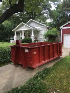 Empty dumpster side view
