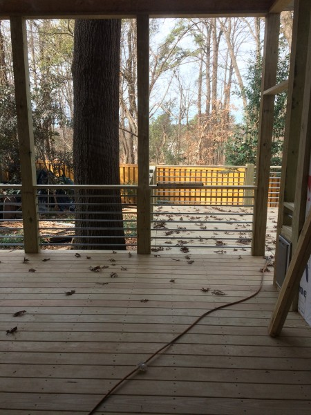 Screened in porch and deck railing completed