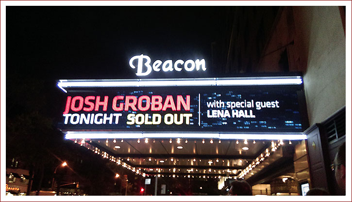 Josh Groban Sold Out