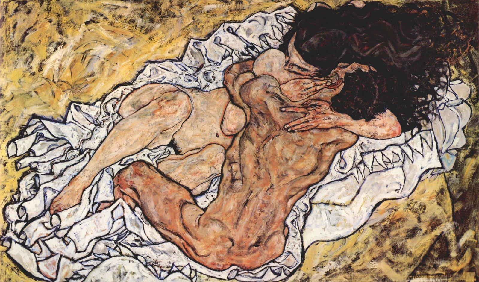 Egon Schiele - Die Umarmung