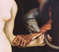 Hans Baldung, gen. Grien - Eva, die Schlange und der Tod, Detail