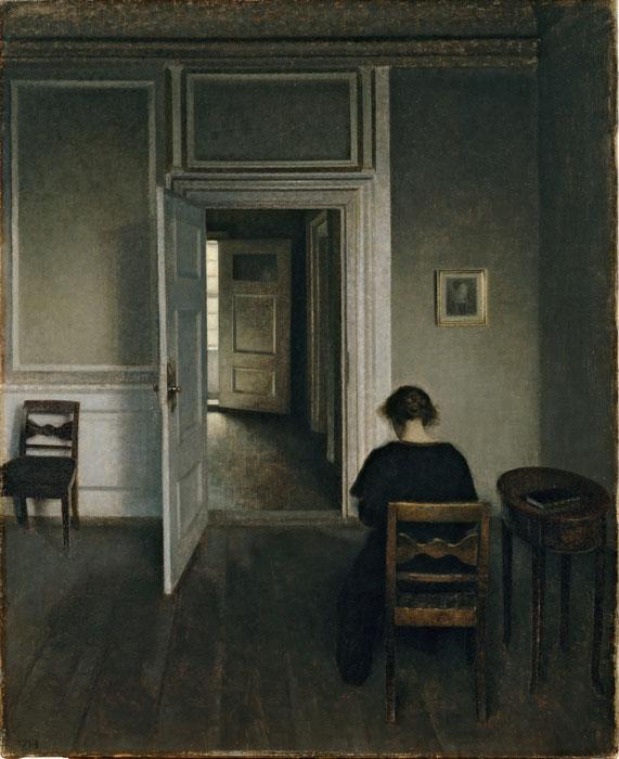 Vilhelm Hammershøi - Interieur Strandgade 30, 1908