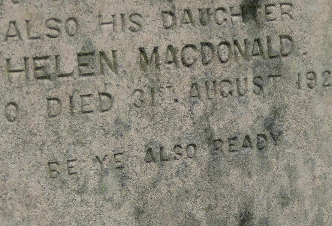 Helen MacDonald - Cemetery Scotland