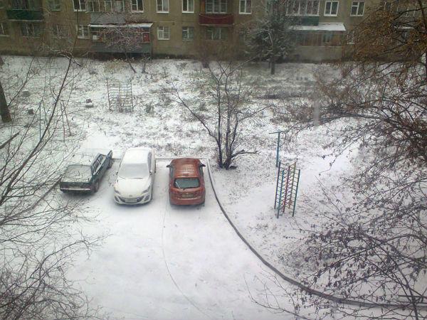 Первый снег в Липецке
