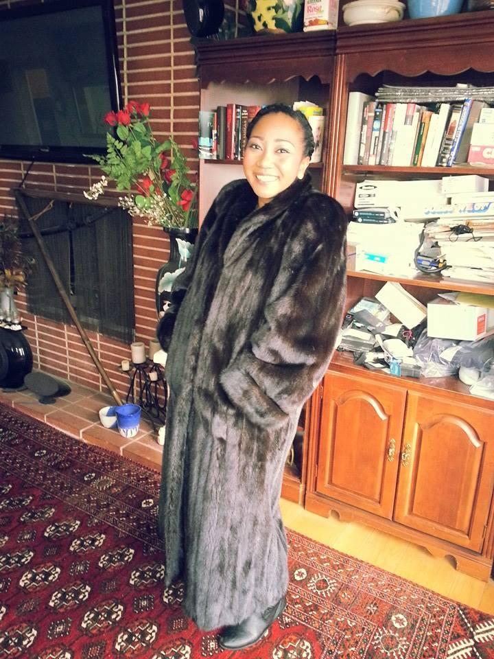 Gina in a mink coat1