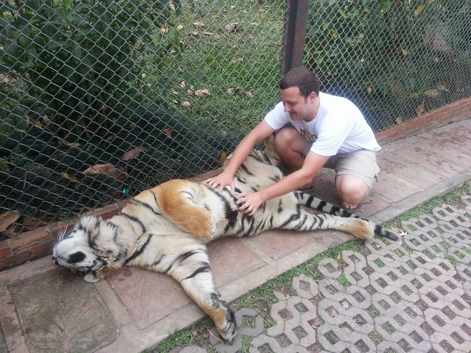 alex with tiger