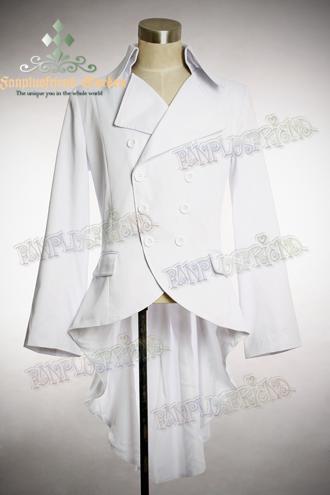 FanPlusFriends Elegant Goth Gothic Metal Buckles Tuxedo Tail Jacket