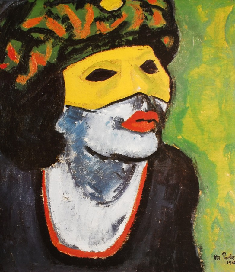Max Pechstein - The Masked Woman - 1902