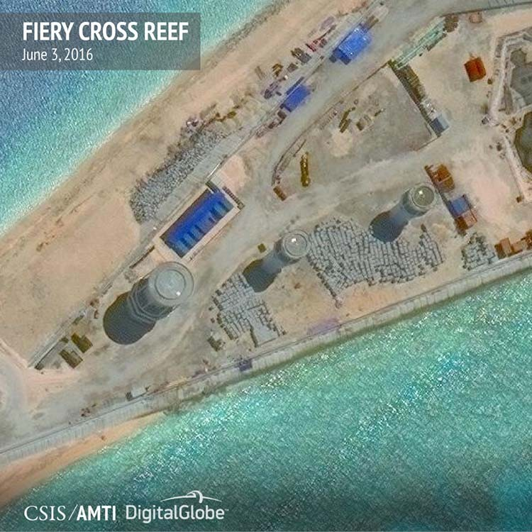 Chinese Military Infrastructure in South China Sea's Spratly Islands