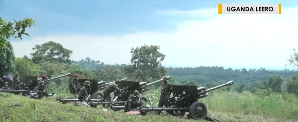 Советские 76-мм дивизионные пушки образца 1942 года (ЗИС-3) в Уганде