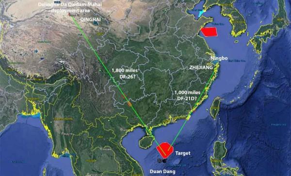 В Китае отработали нанесение массированного ракетного удара по авианосной группе ВМС США