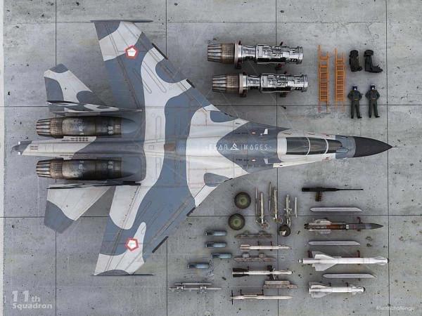 Редкое видео истребителей Су-30МК ВВС Индонезии