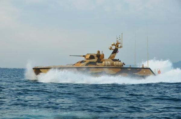 Испытания индонезийского катера-танка
