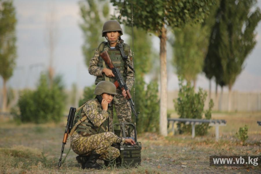 Как служат женщины-военнослужащие в армии Киргизии