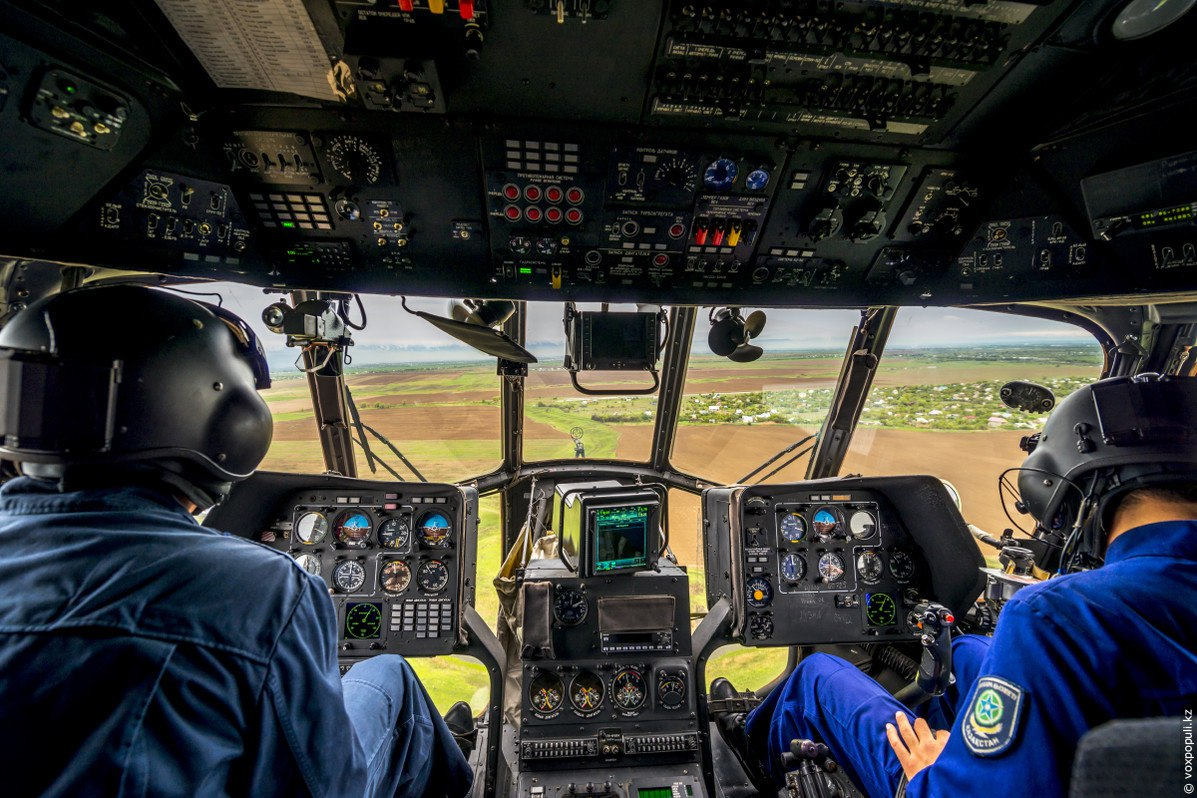 фото вид из военного вертолета при