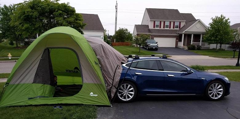 Tesla-tent-camping