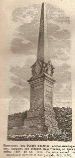 Картинки по запросу Обелиск-памятник солдатам-евреям - защитникам Севастополя